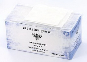 "Precision 4""X4"" Gauze - The Absolute Best Gauze Sponges - 200 Per Box"