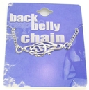Painful Pleasures MN0200 Back Belly Chain Chaos Design Pierceless Body Jewelry