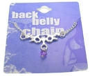 Painful Pleasures MN0201 Back Belly Chain Gotham Bat Pierceless Body Jewelry