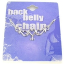 Painful Pleasures MN0202 Back Belly Chain Single Heart Pierceless Body Jewelry