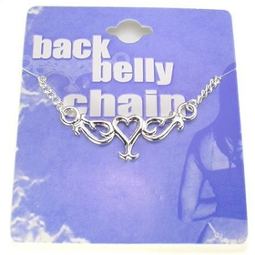 Back Belly Chain Single Heart Pierceless Body Jewelry