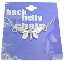 Painful Pleasures MN0203 Back Belly Chain Butterfly Pierceless Body Jewelry