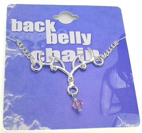 Back Belly Chain Antlers Pierceless Body Jewelry