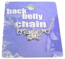 Painful Pleasures MN0206 Detailed Butterfly Back Belly Chain Pierceless Body Jewelry
