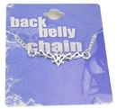 Painful Pleasures MN0207 Detailed Tribal Back Belly Chain Pierceless Body Jewelry
