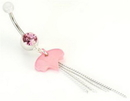 "Painful Pleasures MN0966 14g 7/16"" Jewel with Acyrlic Dangle Tassel Belly Button Ring"