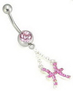 Painful Pleasures MN1285 14g 7/16'' Single Jewel Belly Button Ring with Pisces Charm