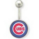 Painful Pleasures MN1317-MLB_Cubs_N MLB Chicago Cubs Belly Button Navel Ring