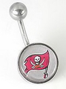 MN1318- NFL_Bucs_N 14g 7/16'' NFL Regular Style Belly Ring - Tampa Bay Bucs