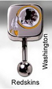 MN1318- NFL_Redskins_N 14g 7/16'' NFL Reverse Top Down Belly Button Ring - Washington Redskins