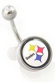 Nfl Body Jewelry For Belly Button Ring - Pittsburgh Steelers