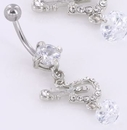 """Painful Pleasures MN1422 14g 7/16"""" GUITAR Studded Navel Belly Jewelry"""