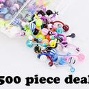 """Painful Pleasures MN1533-deal500 14g 7/16"""" Acrylic Ball Flexible PTFE Belly Ring - Price Per 500"""