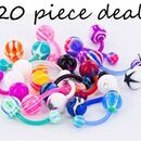 """Painful Pleasures MN1534-deal20 14g 7/16"""" PTFE Flexible Belly Rings - Price Per 20"""