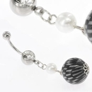 """Painful Pleasures MN1637 14g 7/16"""" Crystal Gem with DISCO BALL Navel Belly Jewelry"""