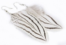 Painful Pleasures MN1654-pair WHITE Feather French Hook Earrings - Price Per 2 Earrings