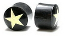 Painful Pleasures ORG007 STAR PLUG Inlay Natural Horn Organic Body Jewelry - Price Per 1