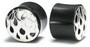 Elementals Organics ORG010 SILVER FLAMES Tunnel Horn Organic Ear Jewelry - Price Per 1