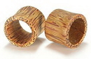 "Painful Pleasures ORG044 COCONUT Wood Earlet Hollow Plug Natural Ear Jewelry 8g - 1 1/4"" - Price Per 1"