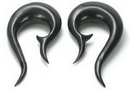 Elementals Organics ORG053 Black Horn Hook Earrings Body Jewelry - Price Per 1