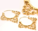Elementals Organics ORG1000-pair 18g GOLD PLATED Indonesia Misha Style Earrings - Price Per 2