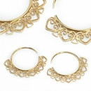 Elementals ORG1001-pair 12g GOLD PLATED Indonesia BALI Style Earrings - Price Per 2