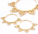 Elementals Organics ORG1004-pair 12g GOLD PLATED BENTLER Style Earrings - Price Per 2