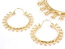 Elementals Organics ORG1007-pair 18g GOLD PLATED Indonesia Sabeen Style Earrings - Price Per 2