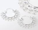 Elementals ORG1009-pair 18g SILVER Indonesia Melatie Style Earrings - Price Per 2