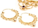 Elementals Organics ORG1014-pair 18g GOLD PLATED Indonesia RYIA Style Earrings - Price Per 2