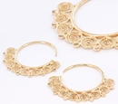 Elementals ORG1016-pair 12g GOLD PLATED Indonesia MYSYIA Style Earrings - Price Per 2