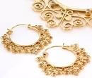 Elementals Organics ORG1019-pair 18g GOLD PLATED Indonesia GAJ Style Earrings - Price Per 2