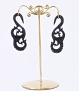 Painful Pleasures ORG1028 Bronze Earring - Organic Holder Display Stand # 1