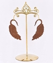Painful Pleasures ORG1031 Bronze Earring - Hanger Organic Holder Display Stand # 4