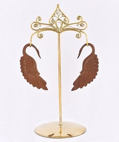 Bronze Earring - Hanger Organic Holder Display Stand # 4