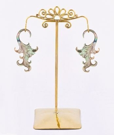 Bronze Earring - Hanger Organic Holder Display Stand # 6