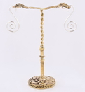 Painful Pleasures ORG1035 TWIN SNAKE HEADS Bronze Earring - Hanger Organic Holder Display Stand