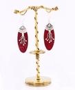 Elementals Organics ORG1037 SIMPLE FOWER Bronze Earring - Hanger Organic Holder Display Stand
