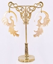 Painful Pleasures ORG1038 ORNATE Bronze Earring - Hanger Organic Holder Display Stand