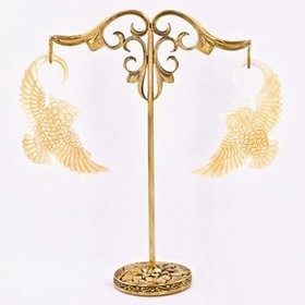 Bronze Earring - Hanger Organic Holder Display Stand