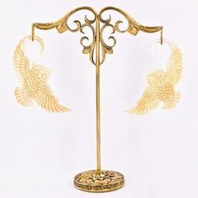 Bronze Earring - Hanger Organic Holder Display Stand