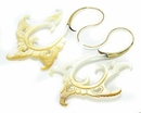 Elementals ORG1104-pair Mother of Pearl Aamina Gold Plated Earrings -  Price Per 2