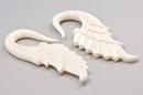 "Elementals Organics ORG1162 ANGEL WINGS ""D"" Bone Hanger Organic Body Jewelry - 1.5mm-8mm - Price Per 1"