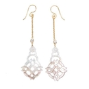 Elementals Organics ORG1639-pair Chakra Mother of Pearl Jeweled Earrings - Price Per 2