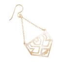 Elementals Organics ORG1642-pair Aztecan Pentagon Mother of Pearl Earrings - Price Per 2