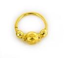 Elementals Organics ORG2099 18g Gold Plated Center Ball Septum or Earring Jewelry