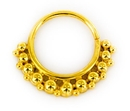 Elementals Organics ORG2101 18g Gold Plated KWS 4 Septum or Earring Jewelry