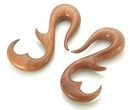 Painful Pleasures ORG232 BLOOD WOOD Peaceful Swan Organic Body Jewelry 4mm - 12mm - Price Per 1