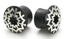 Painful Pleasures ORG251 STAR WEB SILVER Plug Horn Organic Ear Jewelry - Price Per 1