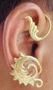 Elementals Organics ORG3085-pair Polished Brass Filigree Leaf Ear Wrap - Price Per 2